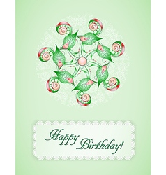 Greeting card with abstraction vector image
