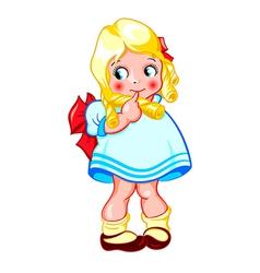 Sweet little girl vector image vector image