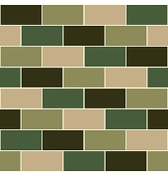 Camouflage Green Brick Wall vector image