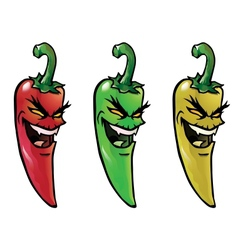 Evil hot chili peppers vector image vector image