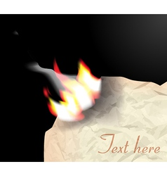 Flame on paper vector image