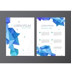 flyer blue brochure abstract design 2 vector image