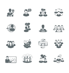 Meeting Icons Set vector image