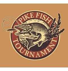Vintage trout fishing emblems labels and design vector image vector image