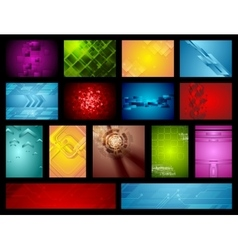Bright hi-tech backgrounds collection vector image