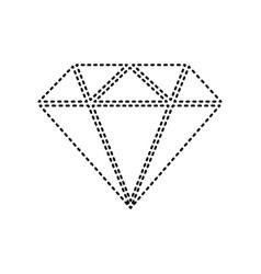 diamond sign black dashed vector image