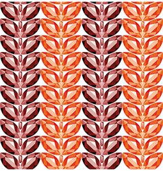 Garnet and fire opal leaves seamless texture vector image vector image