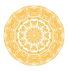 round ornament in yellow color vector image