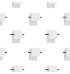 white roll of toilet paper on a holder pattern vector image
