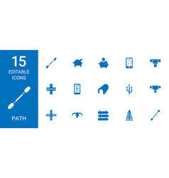 15 path icons vector