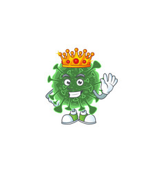 A charismatic king wuhan coronavirus cartoon vector