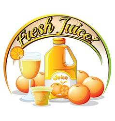 A fresh juice label vector