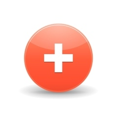 AddThis icon simple style vector image