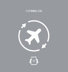 Airline concept symbol icon vector