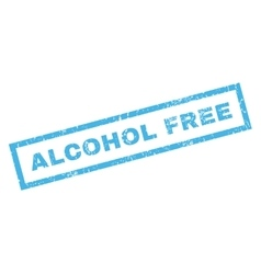 Alcohol Free Rubber Stamp vector