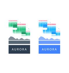 Aurora or polar lights colorful northern sky vector