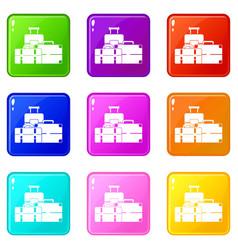 Baggage set 9 vector