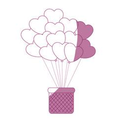Balloon in heart shape icon vector