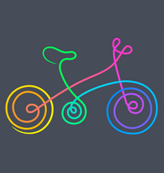 bike gradient vector image