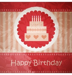 Birthday card with copy space vector image