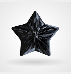 black diamond five pointed star triangular vector image
