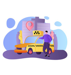 booking or greeting car trip online concept vector image