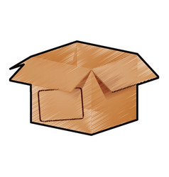 Box open isolated vector