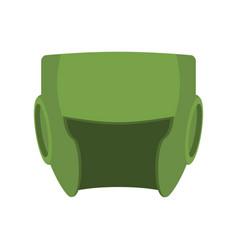 Boxing helmet green boxer mask isolated spor vector