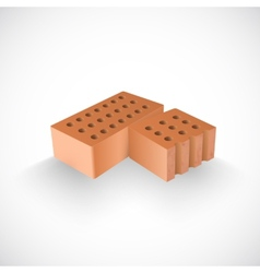 brick and a half it realistic template vector image