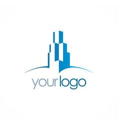 building skyscraper logo vector image