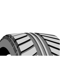 car tire with tire marks on a white background vector image