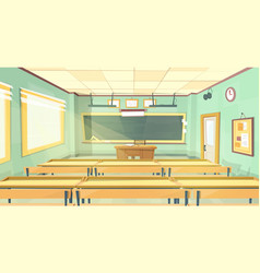 Cartoon background - back to college vector