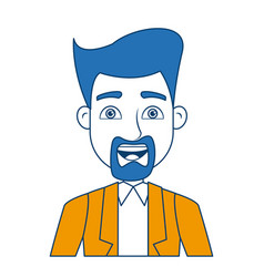 cartoon portrait man business work professional vector image