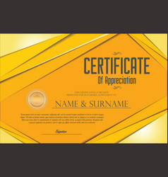certificate gift coupon template retro vintage vector image
