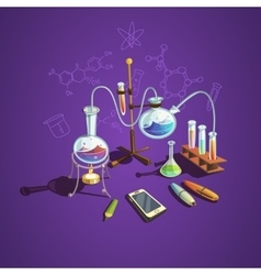 Chemistry science concept vector