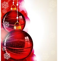 Christmas tree balls vector