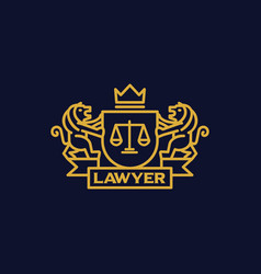 Coat of arms lawyer vector