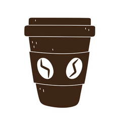 Coffee takeaway disposable cup isolated icon style vector
