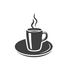 Coffee tea cup icon placed on white vector
