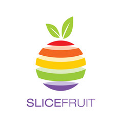 Colorful slice fruit logo poster vector