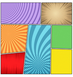 Comic book page light background vector