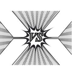 comic fight monochrome template vector image