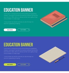 concepts of education and vector image