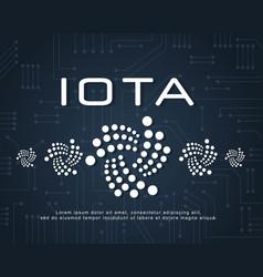 Design blockchain iota background style vector