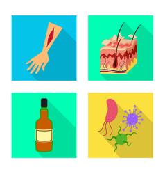 Design dermatology and disease icon set vector