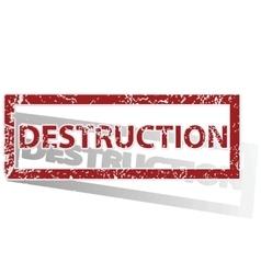 DESTRUCTION outlined stamp vector