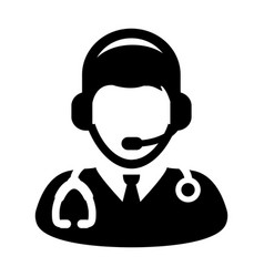 doctor icon online consultation vector image
