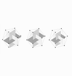 dodecahedron abstract shape vector image