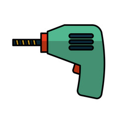 drill electric tool icon vector image vector image