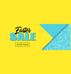 easter sale banner template for facebook event vector image